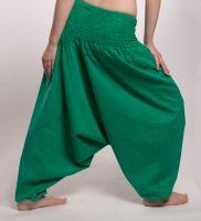 Женские однотонные штаны алладины, изумрудные, Санкт-Петербург