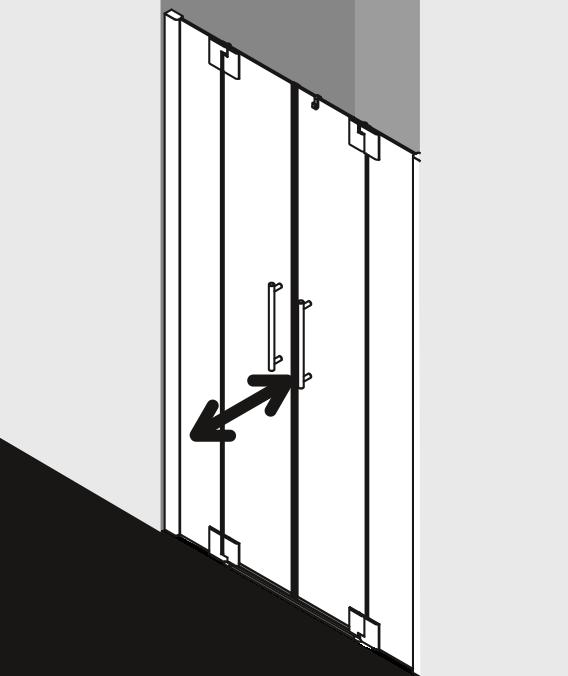 Душевая дверь Kermi Pasa XP в нишу PX PTF ФОТО