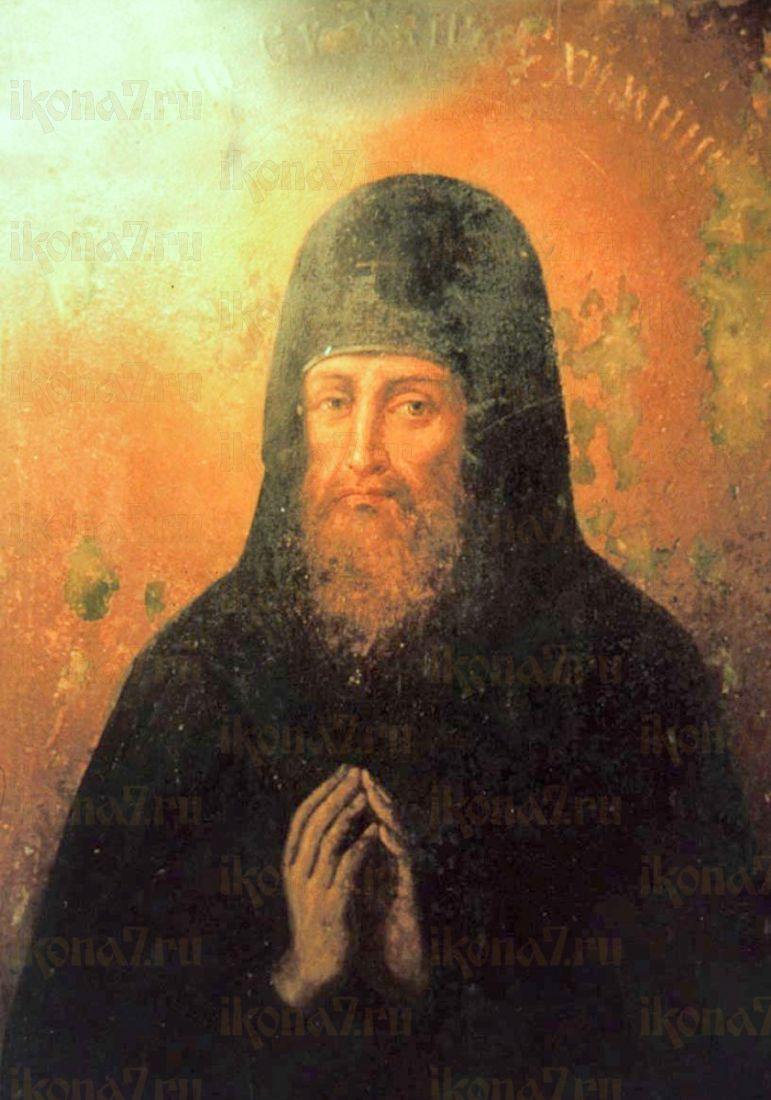 Икона Силуан Печерский (копия 19 века)
