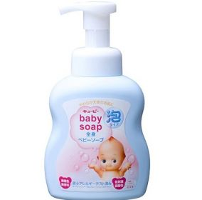 """Детское жидкое мыло для тела COW BRAND """"Kewpie"""" с увлажняющим эффектом, без аромата, диспенсер 400 мл."""