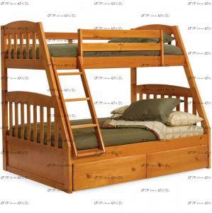 Кровать двухъярусная Алиса массив №Д