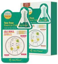 Uniquleen Tea Tree Essence Calming Mask Маска для лица тканевая чайное дерево 26гр