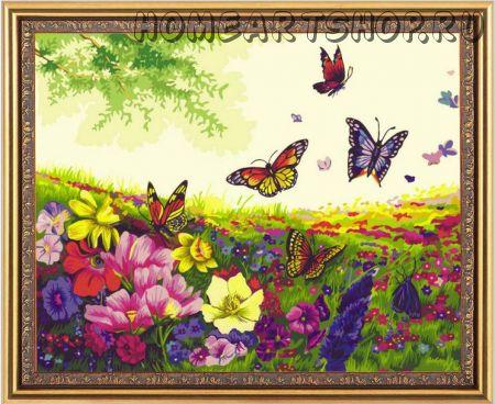 """Картина по номерам """"Танец бабочек"""" 40х50"""