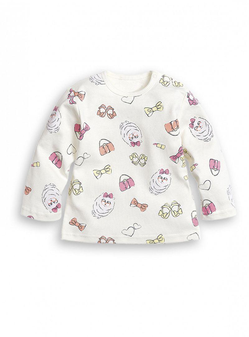 Джемпер молочного цвета для девочки 1-3 месяцев