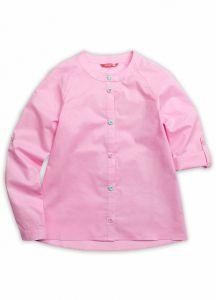 GWCJ4050 Блузка хлопковая розовая с застежкой впереди на девочку Пеликан