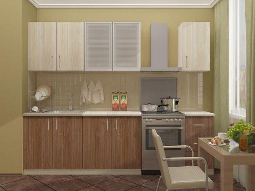 Кухня Катя 2,0 (шимо тёмный/шимо светлый)