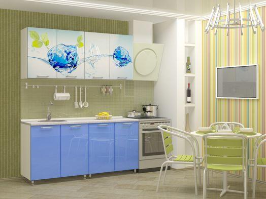 Кухня МДФ с фотопечатью Фреш 1,6 м