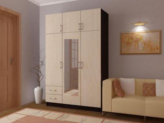 Шкаф трехстворочный с двумя ящиками