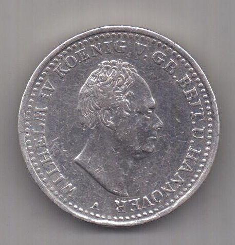 1 талер 1835 г. Великобритания. Ганновер. Германия