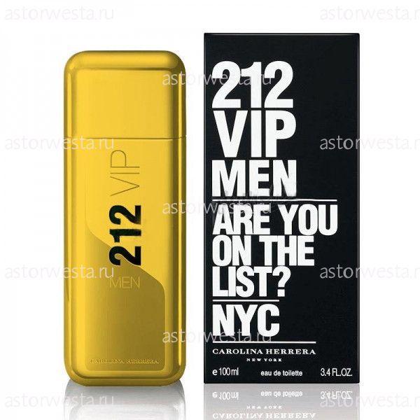 Туалетная вода Carolina Herrera 212 VIP Men Gold, 100 мл (ПОД ЗАКАЗ)