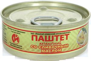 """Паштет печеночный со сливочным маслом """"Люкс""""№1   100гр*24 ключ"""