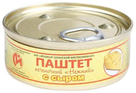 Паштет печеночный с сыром №1   100гр*24 ключ