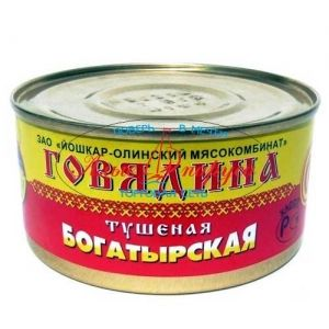 Свинина тушеная богатырская №8 325гр*36