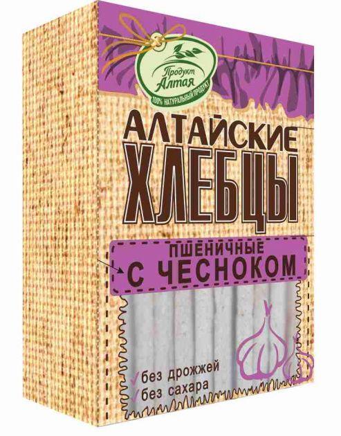 Хлебцы Алтайские Пшеничные с чесноком 75гр*16