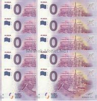 Памятная банкнота Россия 2018 0 евро Россия 10 штук