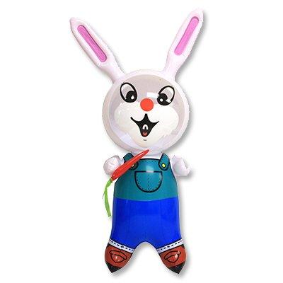 Игрушка надувная Кролик с морковкой, 40, 12 шт.