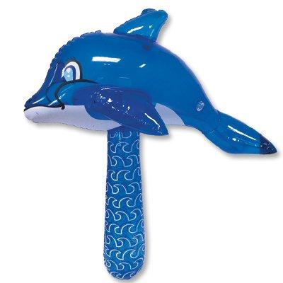 Игрушка надувная Молоток Дельфин 50см, 12 шт.