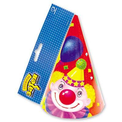 Колпак Клоун с шарами 6шт