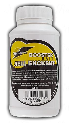 Жидкий ароматизатор Greenfishing Buster Bait лещ бисквит, объем 200 мл