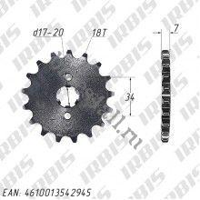Звезда ведущая 18T Stels Flex 250 / Irbis TTR250R