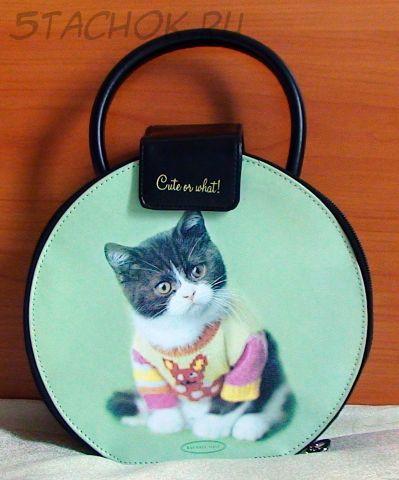 """Сумочка для украшений / косметики с зеркальцем """"Котенок в свитере"""""""