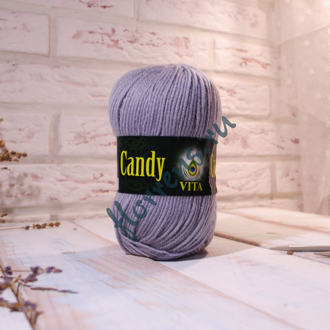 "Пряжа ""Vita"" Candy / 2531 серебристый"