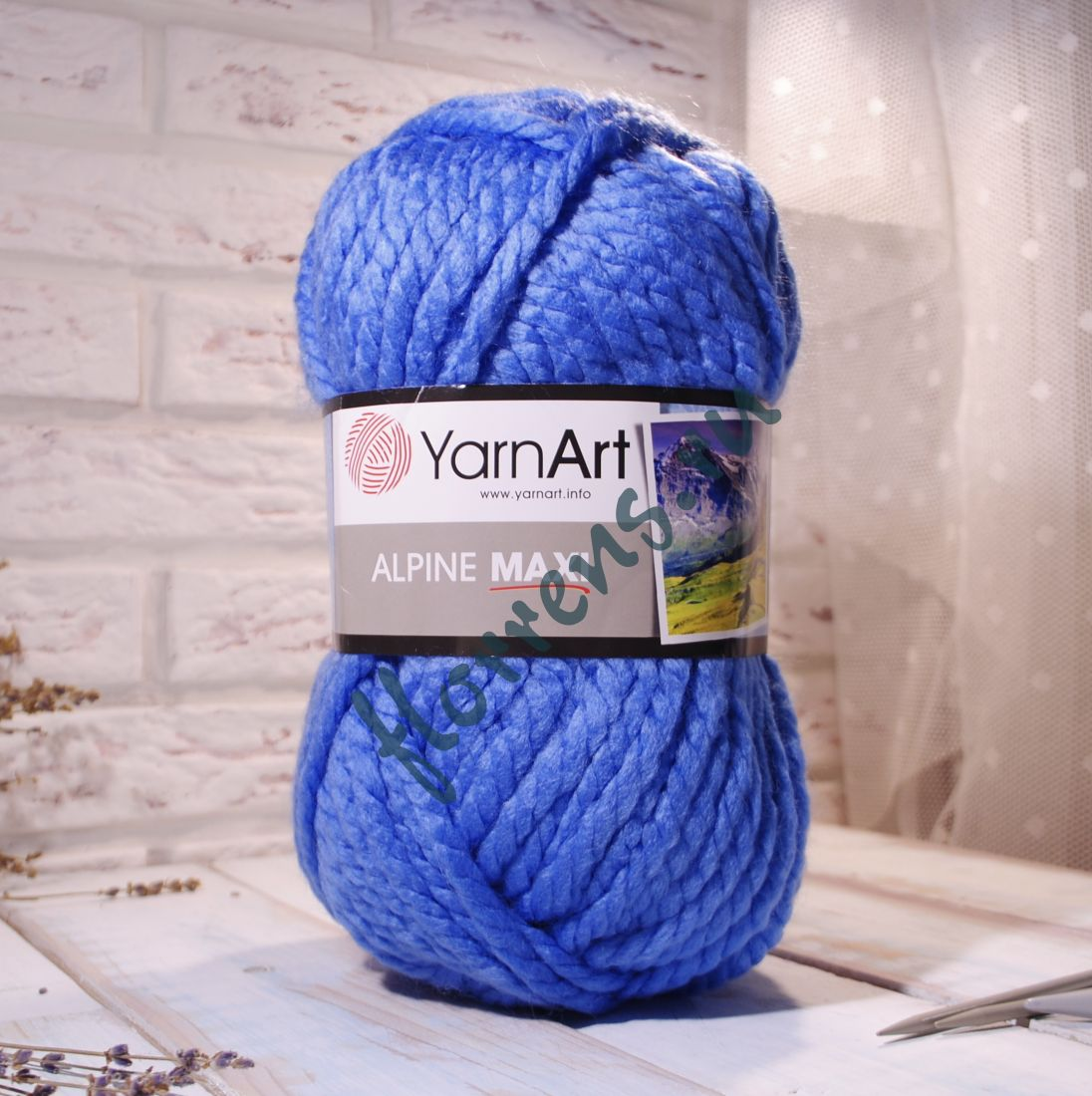 Пряжа YarnArt Alpine Maxi / 668 голубой