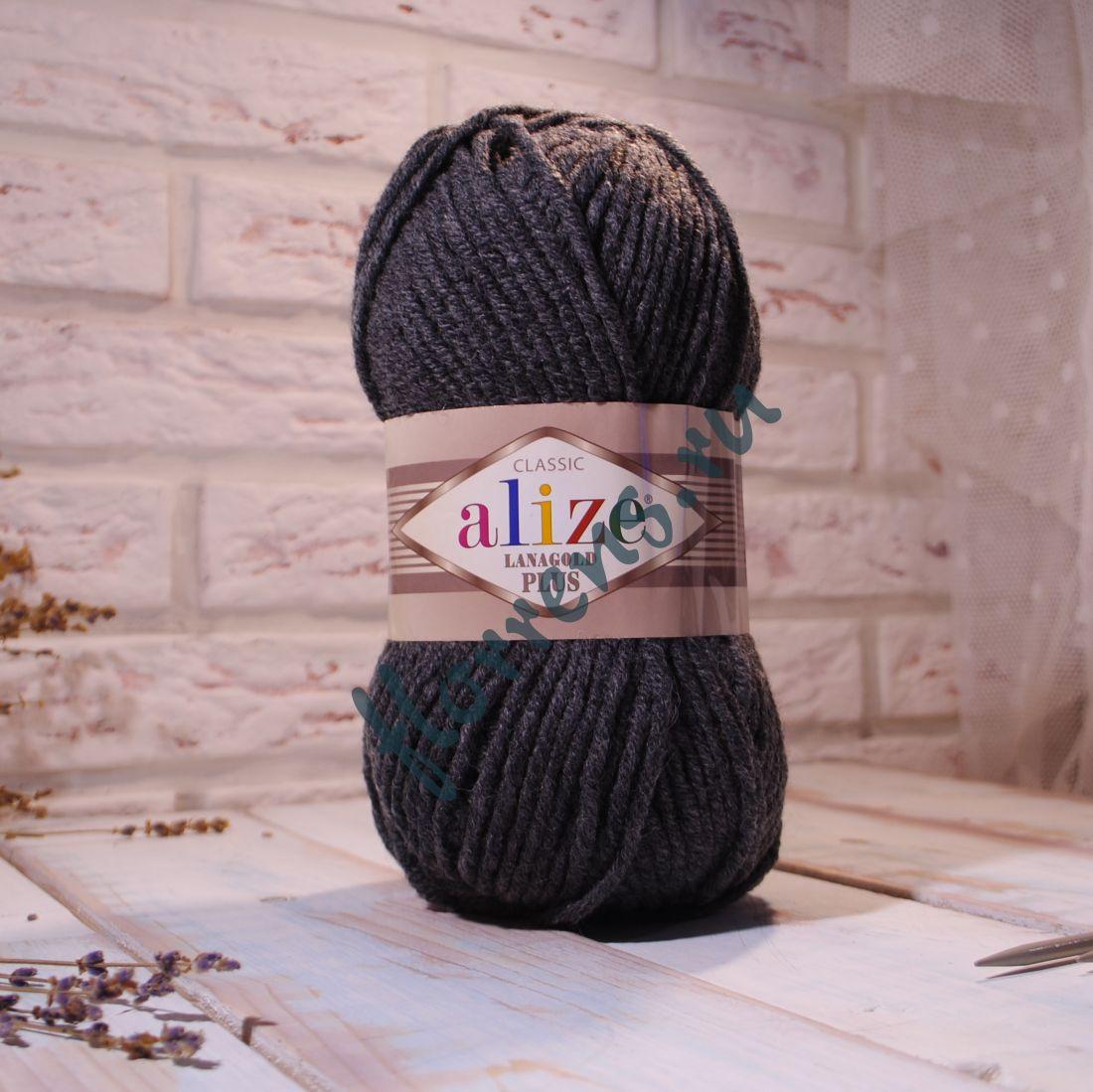 Пряжа Alize Lanagold Plus / 182 средне-серый