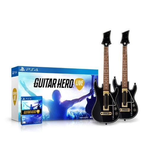 Guitar Hero Live (Гитара + гитара + игра) (PS4)
