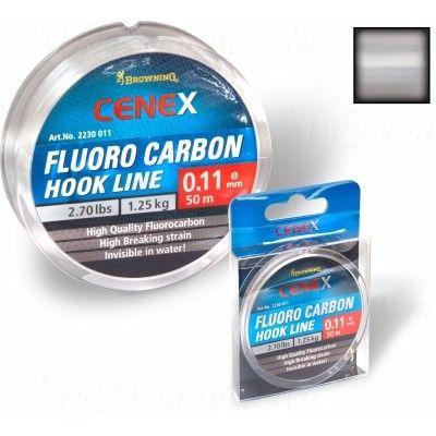 Леска Browning Cenex Fluoro Carbon Hook Line 0,17mm 50m