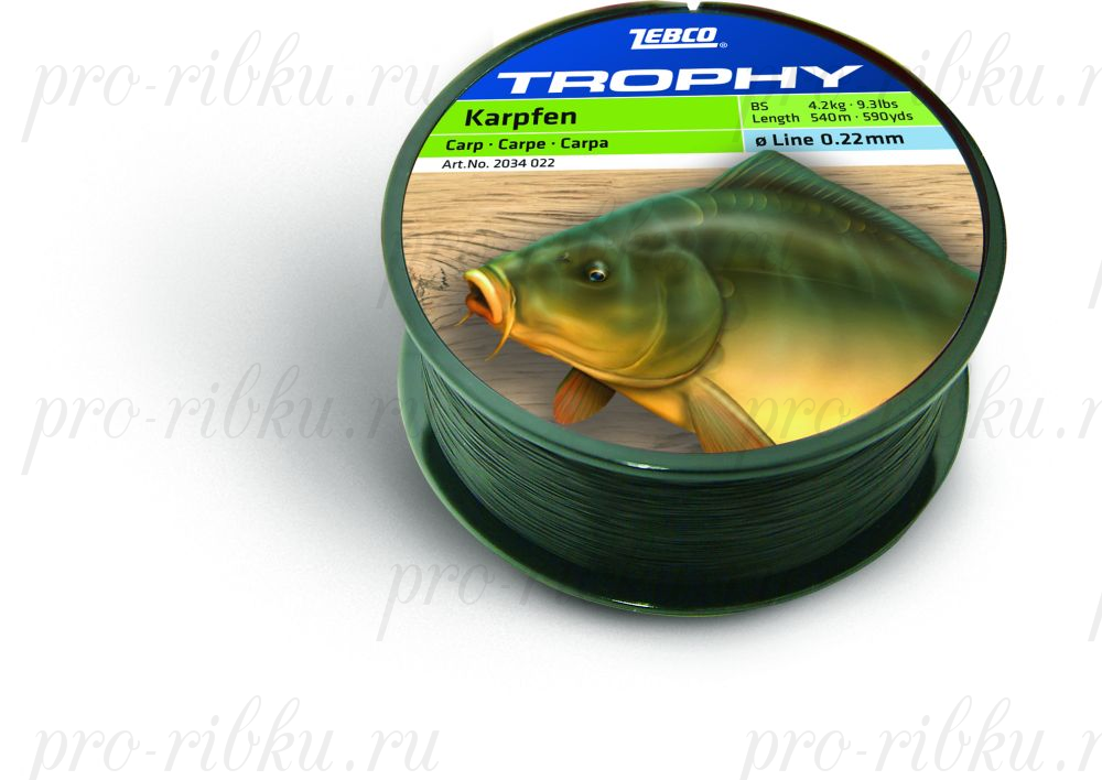Леска Carp (Карп) TROPHY (TOPIC) ZEBCO 540m 0,25мм