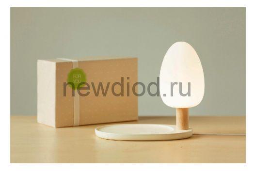 Настольная LED-лампа с функцией беспроводной зарядки Qi (Адаптер Qi в подарок)