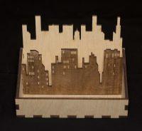 Салфетница из дерева город