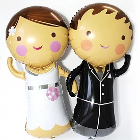 Жених или Невеста  фольгированный шар с гелием