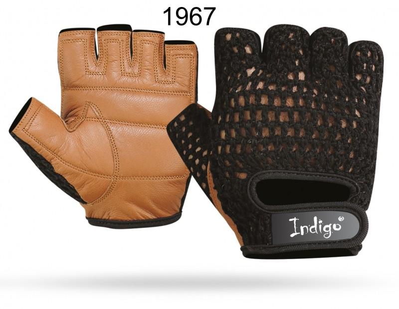 Перчатки атлетические INDIGO SB-16-1967 (кожа, сетка)