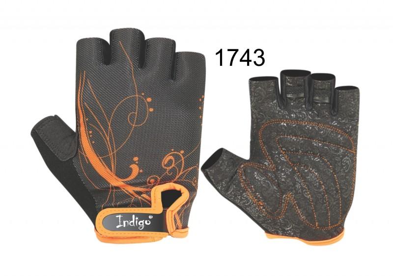 Перчатки атлетические женские INDIGO SB-16-1743 (кожа, лайкра)