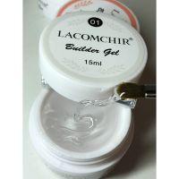 Lacomchir гель для наращивания, clear прозрачный 01, 15 мл