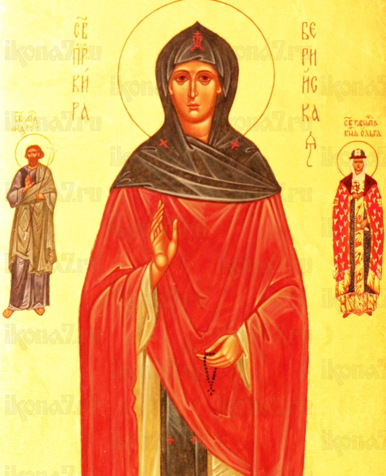 Кира Берийская (икона на дереве)