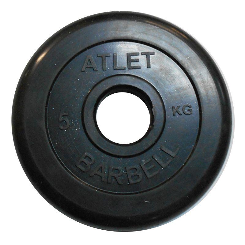 Диски обрезиненные, чёрного цвета, 51 мм, Atlet MB-AtletB50-5