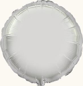 Круг серебряный большой шар фольгированный с гелием