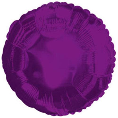 Круг фиолетовый большой шар фольгированный с гелием