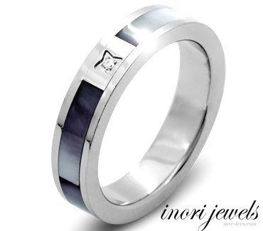 Стальное кольцо Inori с природным цирконом