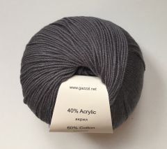 Baby cotton (Gazzal) 3450-т. Серый