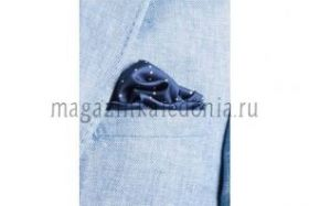Английский нагрудный платок Нэйви Дотти  NAVY MULTI DOTTY SILK POCKET SQUARE