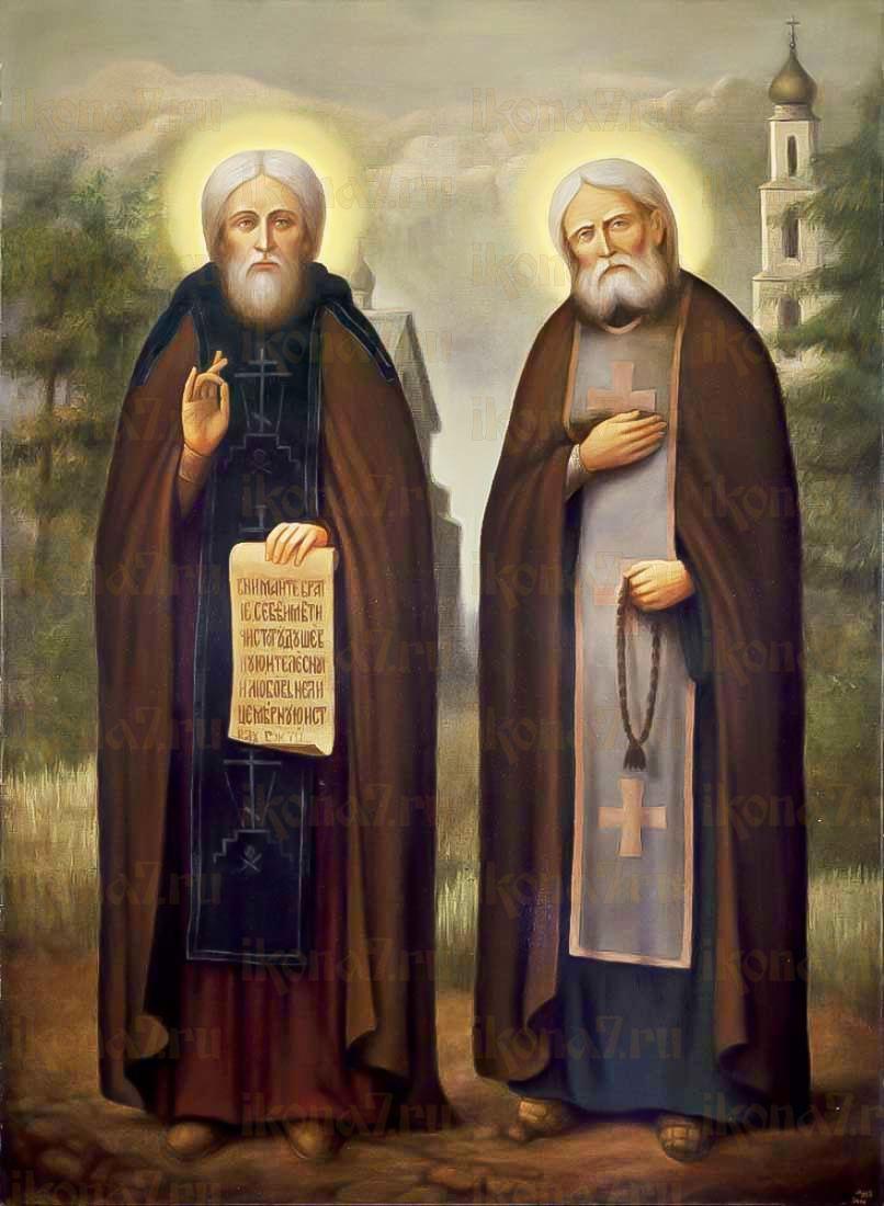 Сергий Радонежский и Серафим Саровский