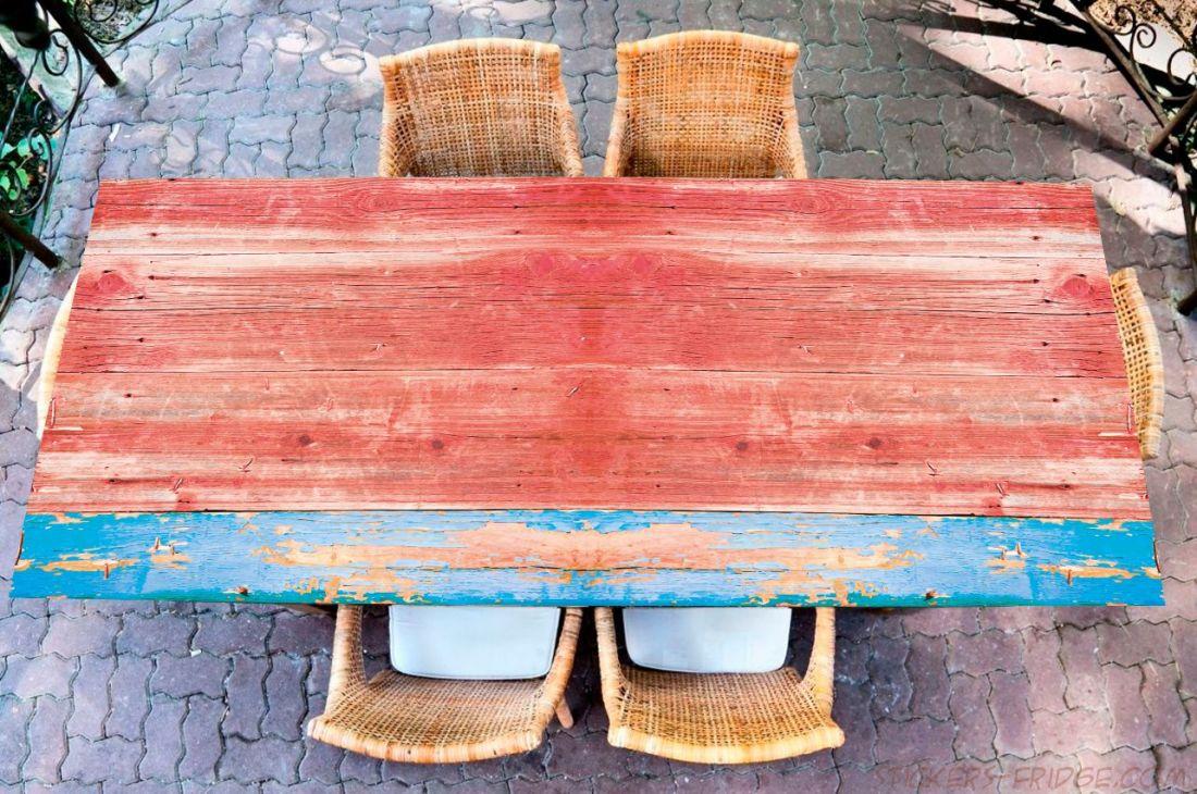 Наклейка на стол - wood 3