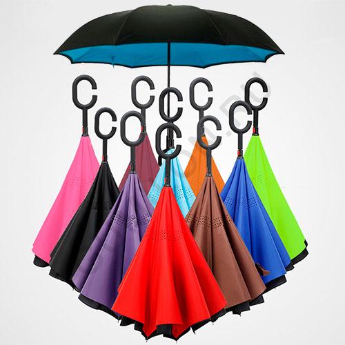 Зонт наоборот «Однотонный»