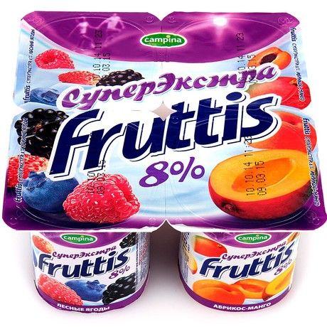 Йогурт Фруттис 8% абр/манго/лес.ягоды 115г ООО Кампина