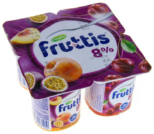 Йогурт Фруттис 8% вишня/пер/маракуйя 115г ООО Кампина