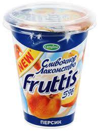 Йогурт Фруттис Сливочное лакомство 5% персик 290гр. ООО Кампина